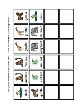 AAC core communication boards for the picture book I Can Help