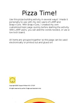 AAC or Language Build Your Own Pizza