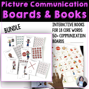 AAC Picture Communication Boards and Books Core Word Bundle