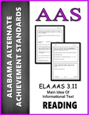 AAS Alabama Achievement Standards  RI 3.2 Main Idea & Details Informational Text