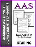AAS Alabama Achievement Standards  RI 3.5 Use Text Features