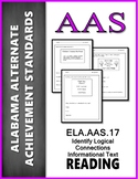AAS Alabama Achievement Standards  RI 3.8 Identify Logical Connections