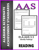 AAS Alabama Achievement Standards RL 3.3 Identify Feelings