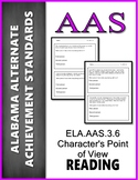 AAS Alabama Achievement Standards RL 3.6 Author's Point of View  AAA