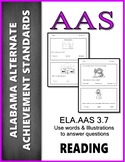 AAS Alabama Achievement Standards RL 3.7 Illustrations and Words AAA