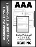 AAS Alabama Achievement Standards  W 3.1 Opinions AAS