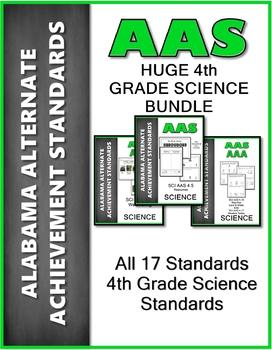 AAS Alabama Alternate Achievement Standards ALL 4th GRADE SCIENCE Bundle