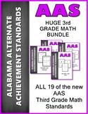 AAS Alabama Alternate Achievement Standards ALL 3rd GRADE MATH Bundle