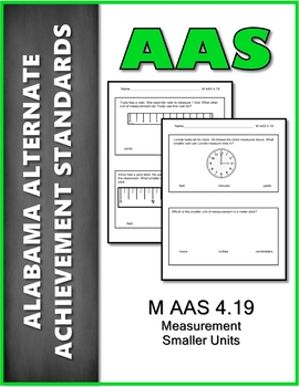 AAS Alabama Alternate Standards M 4.19 Measurement Achievement Standard