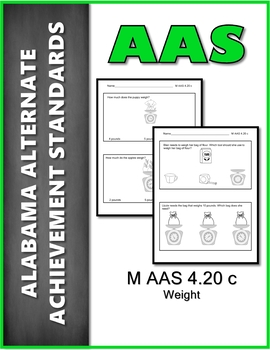 AAS Alabama Alternate Standards M 4.20 D Coins Achievement Standard