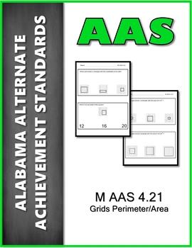 AAS Alabama Alternate Standards M 4.21 Grid Area/Perimeter Achievement Standard