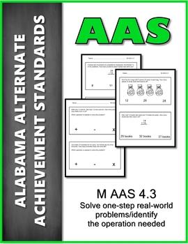 AAS Alabama Alternate Standards M 4.3 a & b Real Life