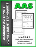 AAS Alabama Alternate Standards M 4.3 a & b Real Life