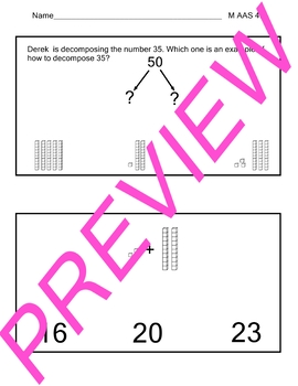 AAS Alabama Alternate Standards M 4.6 Compose & Decompose  Achievement Standards