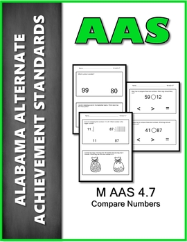 AAS Alabama Alternate Standards M 4.7 Compare Numbers  Achievement Standards