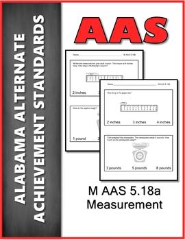 AAS Alabama Alternate Standards M 5.18b Measurement Achievement Standard