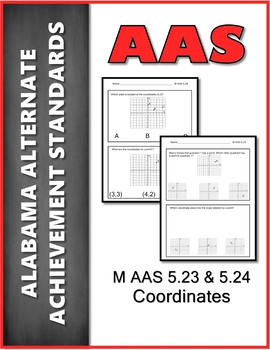 AAS Alabama Alternate Standards M 5.23 & 24 Coordinates  Achievement Standard