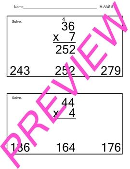 AAS Alabama Alternate Standards M 5.8 Multiply Achievement Standard