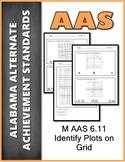 AAS Alabama Alternate Standards M 6.11 Plot/identify points Achievement Standard