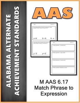 AAS Alabama Alternate Standards M 6.17 Expressions Achievement Standard