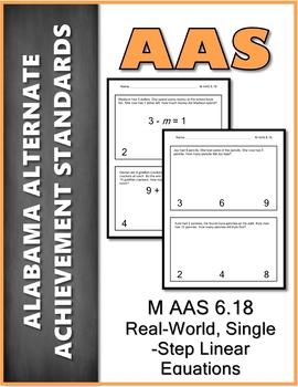AAS Alabama Alternate Standards M 6.18 Word Problems Achievement Standard