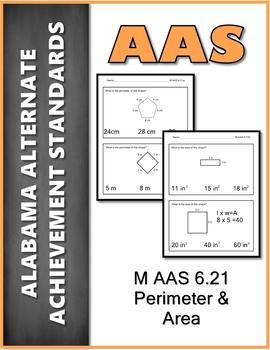 AAS Alabama Alternate Standards M 6.21 a&b  Word Problems Achievement Standard