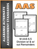 AAS Alabama Alternate Standards M 6.5 Division Remainders Achievement Standard