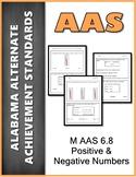 AAS Alabama Alternate Standards M 6.8 Positive & Negative Achievement Standard