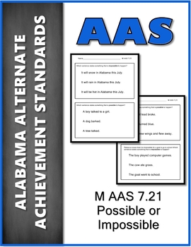 AAS Alabama Alternate Standards M 7.21 Probability Achievement Standard