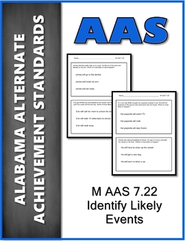 AAS Alabama Alternate Standards M 7.22 Most Likely Events Achievement Standard