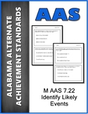 AAS Alabama Alternate Standards M 7.22 Most Likely Events