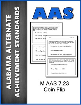 AAS Alabama Alternate Standards M 7.23 Coin Flip Achievement Standard