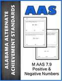AAS Alabama Alternate Standards M 7.9 Positive & Negative Achievement Standard