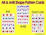 AB & AAB Shape Pattern Cards