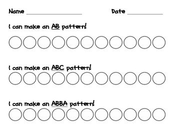 AB  ABC  ABBA Patterns