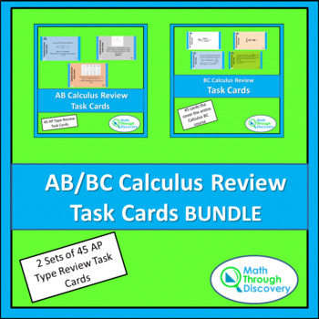 Calculus:  AB/BC Calculus Review Task Cards BUNDLE