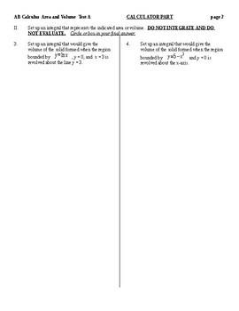 AB Calculus- Area and Volume