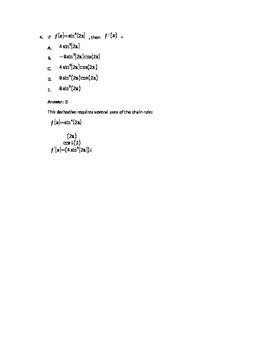 AB Calculus Full-Length Practice Exam #2