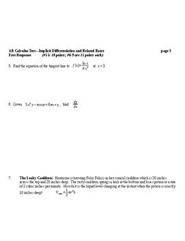 AB Calculus: Implicit Differentiation and Related Rates