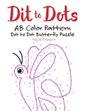 AB Colour Linear Pattern Dot to Dot Butterfly Math Activity