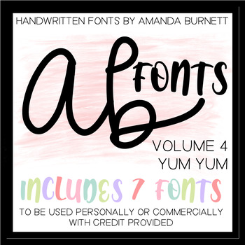 AB FONTS Volume 4 | Yum Yum