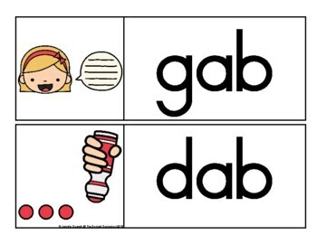 AB Family Word Wall Cards