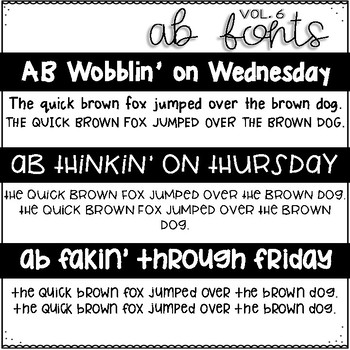 AB Fonts Volume 6 | A Teacher's Life