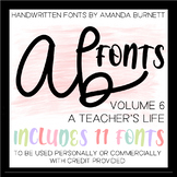 AB Fonts Volume 6   A Teacher's Life