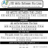 AB Fonts | Write Between the Lines Font