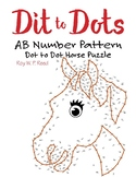 AB Number Linear Pattern Dot to Dot Horse Math Activity