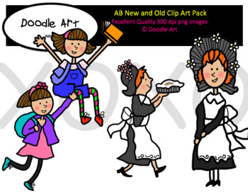 AB Old and New Clipart Pack