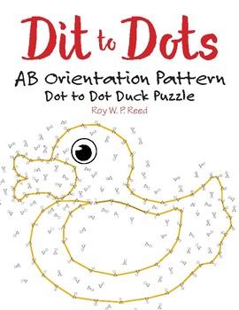 AB Orientation / Direction Linear Pattern Dot to Dot Duck Math Activity