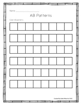 AB Pattern Freebie