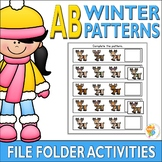 AB Winter Patterns File Folder Activities